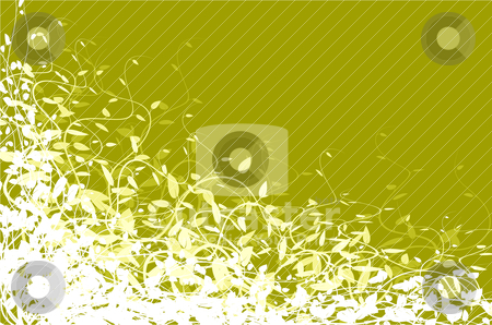Green floral background  stock vector clipart, Green floral background with place for your copy by orson
