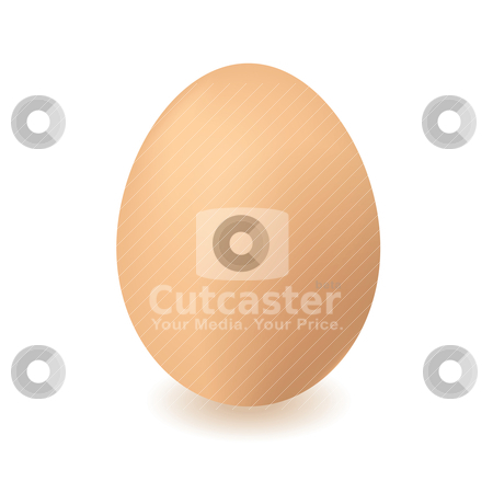 Chickend egg stock vector clipart, Brown chickens or hens egg with isolated white background and shadow by Michael Travers