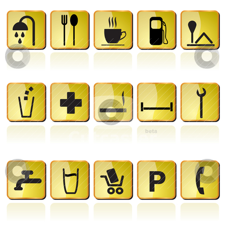 Petrol station icons stock vector clipart, petrol station icons - vector icon set by Stoyan Haytov