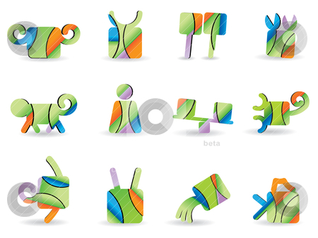 Set for a horoscope icons  stock vector clipart, Set for a horoscope icons - vector icon set by Stoyan Haytov