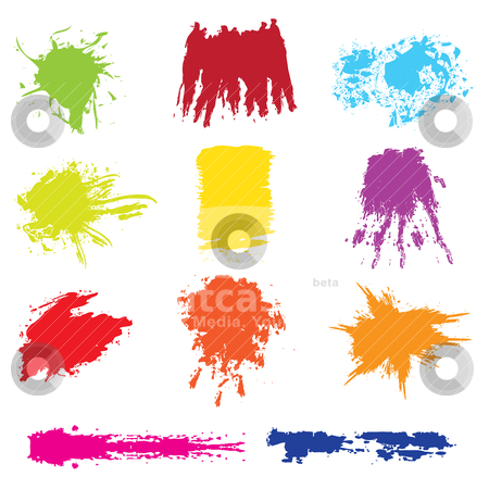 Set of grunge brush vector  stock vector clipart, set of grunge brush vector - vector illustration by Stoyan Haytov