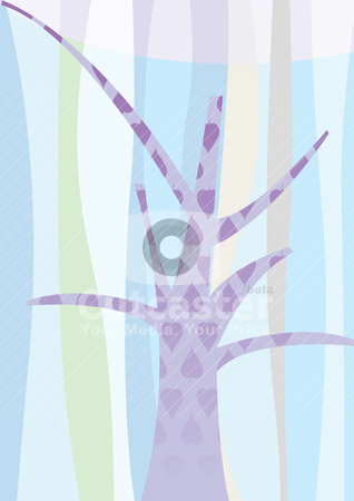 Beautiful tree landscape background  stock vector clipart, beautiful tree landscape background  - vector illustration by Stoyan Haytov