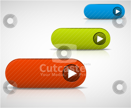 Set of empty buttons stock vector clipart, set of empty buttons - red, green and blue by orson