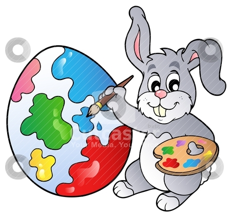 black and white artists paintings. easter eggs clipart lack and