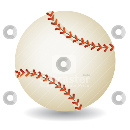 Baseball ball stock vector clipart, Baseball ball isolated on white background, vector illustration by Milsi Art