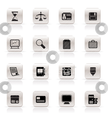 Simple Business and office  Icons   stock vector clipart, Simple Business and office  Icons  vector icon set by Stoyan Haytov
