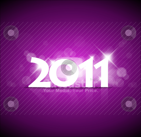 New Years card 2011 stock vector clipart, New Years card 2011 with back light and place for your text by orson