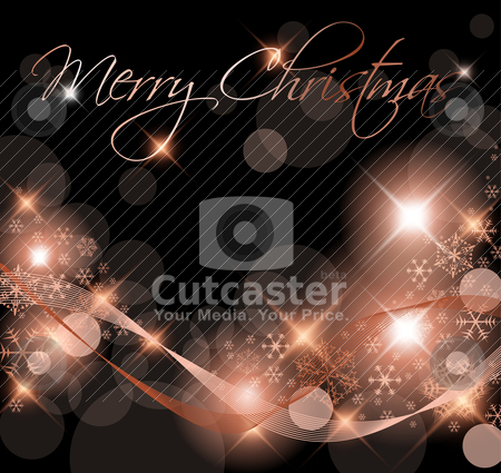 Dark Christmas background / card  stock vector clipart, Dark Christmas background / card with snowflakes by orson