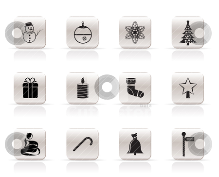 Beautiful Christmas And Winter Icons stock vector clipart, Beautiful Christmas And Winter Icons - Vector Icon Set by Stoyan Haytov