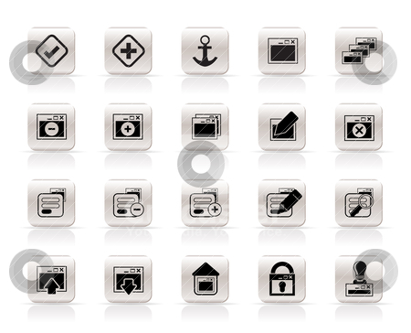 Application, Programming, Server and computer icons  stock vector clipart, Application, Programming, Server and computer icons vector Icon Set 1 by Stoyan Haytov