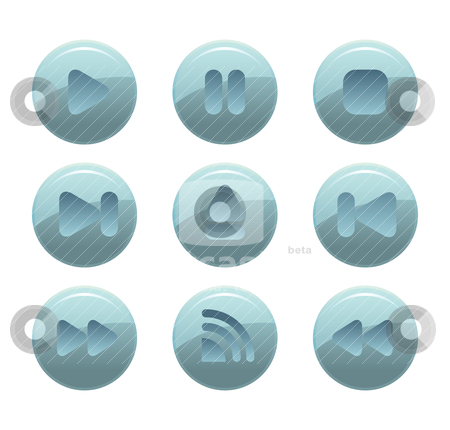 Web button stock vector clipart, modern web button by mhatzapa