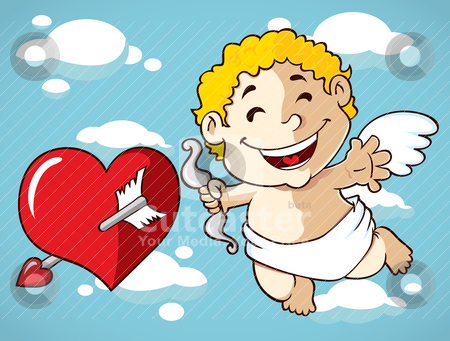 Cute cupid stock vector clipart, cute cupid by mhatzapa
