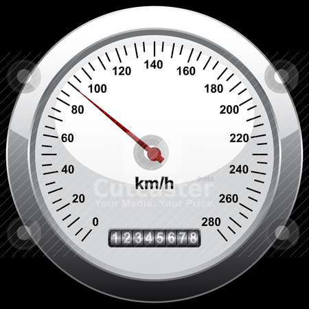 Speedometer stock vector clipart, speedometer by mhatzapa