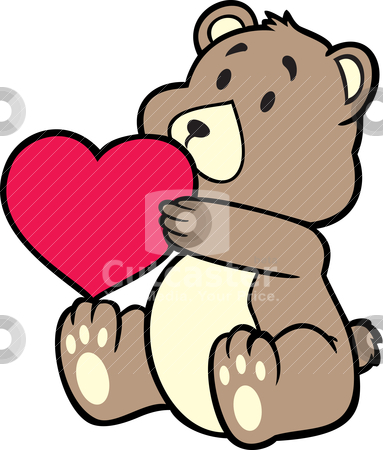 Teddy bear stock vector clipart, teddy bear by mhatzapa