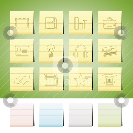 Office and business icons stock vector clipart, Office and business icons - vector icon set by Stoyan Haytov