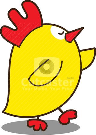 Cute little chicken stock vector clipart, cute little chicken by mhatzapa