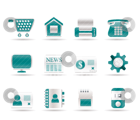 Business, office and website icons  stock vector clipart, Business, office and website icons - vector icon set by Stoyan Haytov
