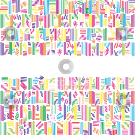 Abstract rainbow colors banner on white background stock vector clipart, Abstract rainbow colors banner on white background by meikis