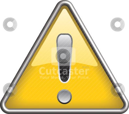 Ganarel warning icon symbol, icon stock vector clipart, Ganarel warning symbol/ icon in yellow 3D triangle by mkocijan