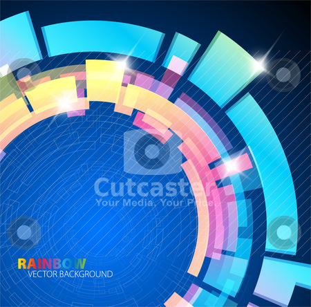 Abstract background with rainbow colors stock vector clipart, Abstract background with rainbow colors and place for your text by orson