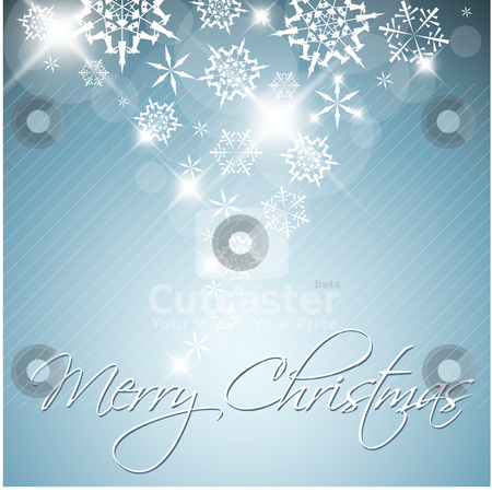 Blue Vector Christmas background stock vector clipart, Blue Vector Christmas background with white snowflakes and place for your text by orson