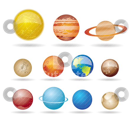 Planets and sun from our solar system stock vector clipart, Planets and sun from our solar system. Vector illustration. by Stoyan Haytov