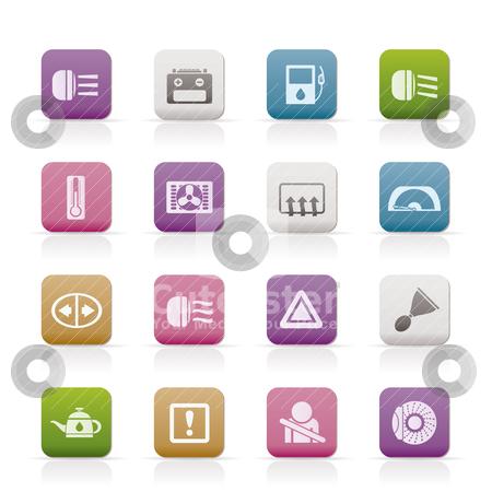 Car Dashboard  stock vector clipart, Car Dashboard - realistic vector icons set by Stoyan Haytov