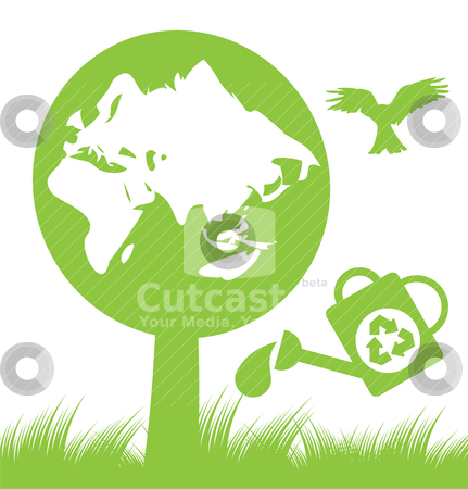 Abstract ecology and nature background  stock vector clipart, abstract ecology and nature background - vector illustration by Stoyan Haytov