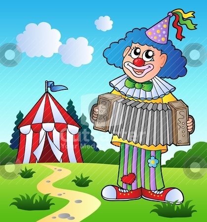 Clipart Clown Playing...