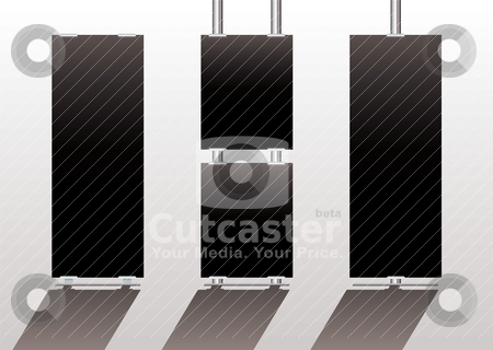 Display stands black stock vector clipart, Advertising display stands with black background ideal for your own company by Michael Travers