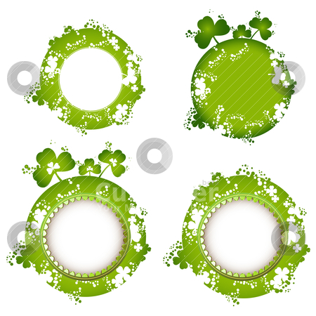 Frame design stock vector clipart, Frame design with clover for St. Patrick's Day card by Merlinul
