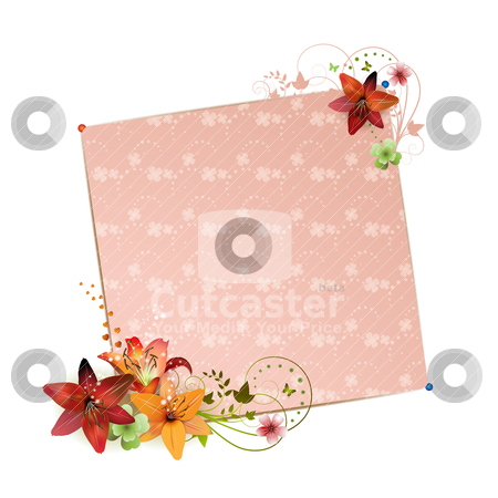 Background with flowers stock vector clipart, Background with flowers isolated on white by Merlinul