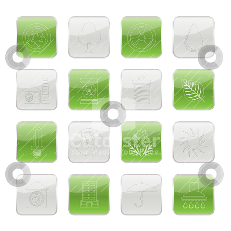 Ecology and nature icons stock vector clipart, Ecology and nature icons -vector icon set by Stoyan Haytov