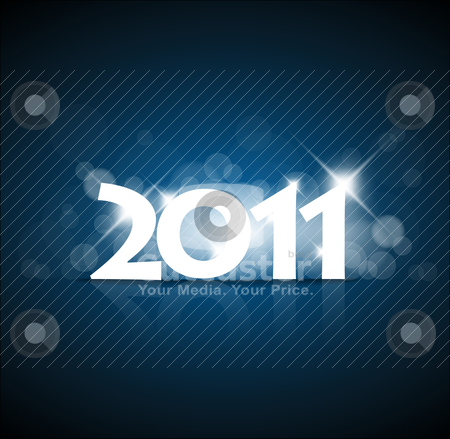 New Years card stock vector clipart, New Years card 2011 with back light and place for your text by orson
