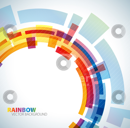 Abstract background with rainbow  stock vector clipart, Abstract background with rainbow colors by orson
