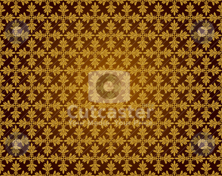 Pattern1 stock vector clipart, Pattern from oak leaves in a golden tonality by Mikhail Puhachou