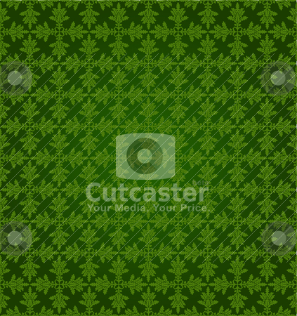 Pattern5 stock vector clipart, Pattern from oak leaves in a green tonality by Mikhail Puhachou