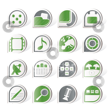 Simple Phone  Performance, Internet and Office Icons  stock vector clipart, Simple Phone  Performance, Internet and Office Icons - Vector Icon Set  by Stoyan Haytov