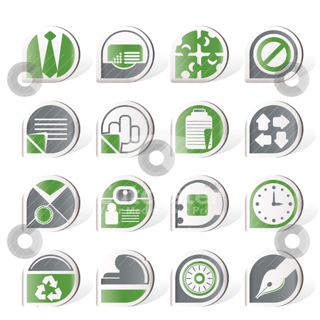 Simple Business and Office Icons stock vector clipart, Simple Business and Office Icons - vector icon set by Stoyan Haytov