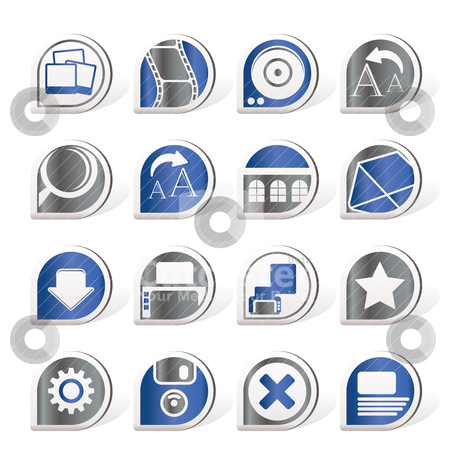 Internet and Website Icons  stock vector clipart, Internet and Website Icons - Vector Icon Set by Stoyan Haytov