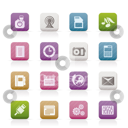 Phone Performance, Business and Office Icons  stock vector clipart, Phone Performance, Business and Office Icons - Vector Icon Set by Stoyan Haytov