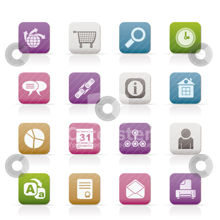 Web Site, Internet and computer Icons  stock vector clipart, Web Site, Internet and computer Icons - vector icon set by Stoyan Haytov