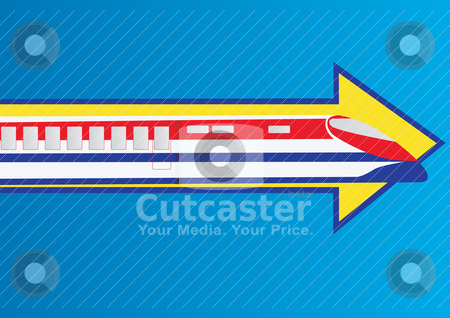 An express train stock vector clipart, Railway transport. Modern high-speed train for passengers. by Sergey Skryl