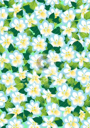 Background of spring flowers stock vector clipart, The background of the blossoming spring flowers by Sergey Skryl