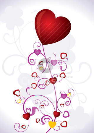 Heart Valentines Day background  stock vector clipart, Heart Valentines Day background - vector illustration by Stoyan Haytov