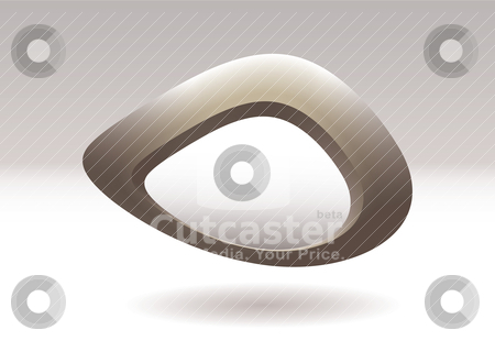 Blob pebble rock stock vector clipart, Abstract stone or rock icon with 3d background and shadow by Michael Travers