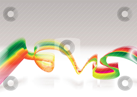 Rasta modern wave stock vector clipart, Abstract rasta modern background with room for text by Michael Travers