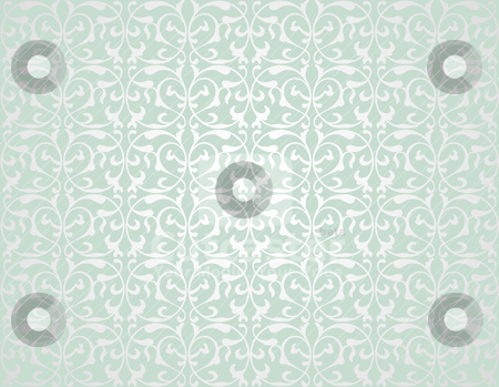 Pattern6 stock vector clipart, Pattern from decorative elements in a grey-green tonality by Mikhail Puhachou