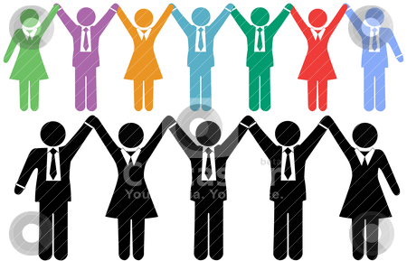 people holding hands clip art. Row of business people symbols