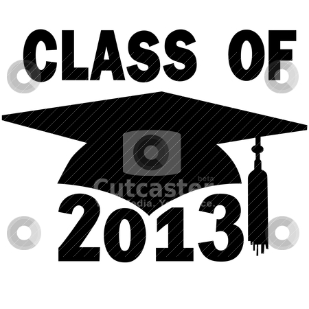 Class of 2013 College High School Graduation Cap stock vector clipart